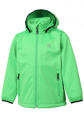 Children's jacket Color Kids Ralado softshell Toucan Green