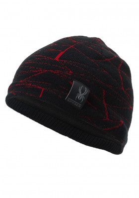 Children's hats Spyder Boy's Web Black / Red