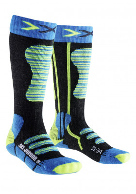 Kids socks X-SOCKS SKI JUNIOR Turguoise/Yellow