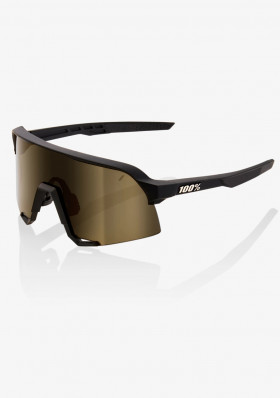 100% S3 Soft Tact Black -Soft Gold Lens