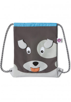 Baby bag Affenzahn Kids Sportsbag Dog - grey
