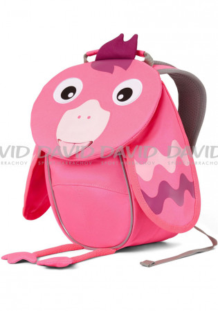 detail Kids backpack Affenzahn Small Friend Flamingo - neon pink