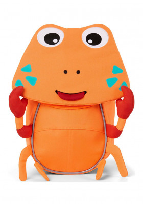 Kids backpack Affenzahn Small Friend Crab - neon orange