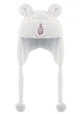 Child fur hat POIVRE BLANC W17-3184-BBGL Fur Peruvian WHITE