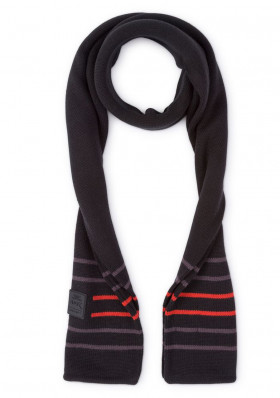 Men's Hackett AMR Pro Linear Black scarf
