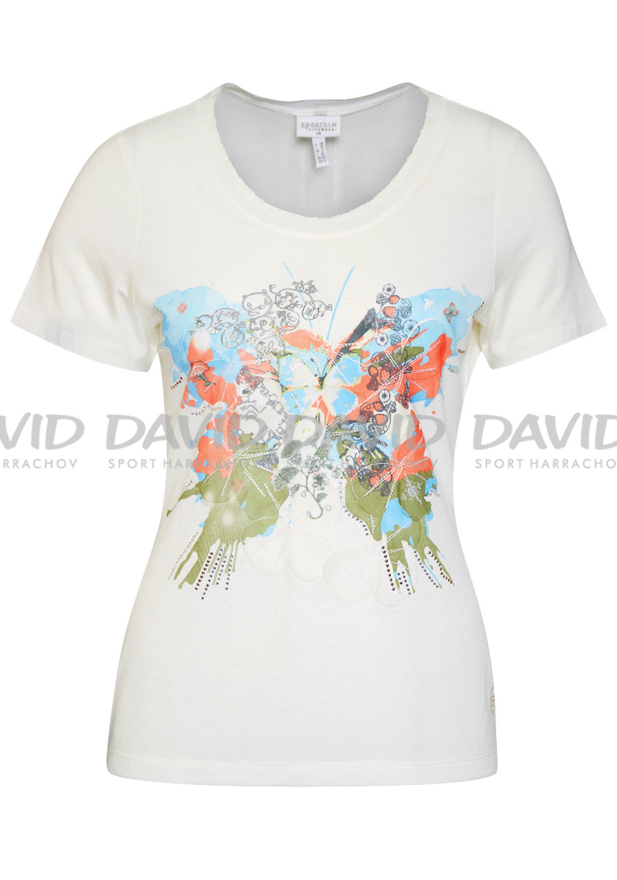 Women's T-shirt Sportalm Abstract gebrochenes white